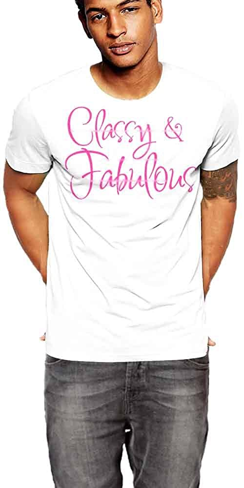 Classy And Fabulous T-Shirt White Cotton Tee