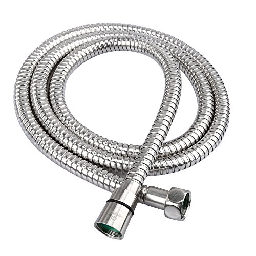 HOMEIDEAS 60-inch RV Shower Hose Bathroom SUS 304 Stainless Steel Extra Long Shower Head Hose Toilet Handheld Showerhead Sprayer Extension Replacement,Polished Chrome