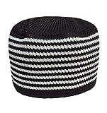 Eid Koofi Muslim Men's Stretchable Kufi Stuff Prayer Cap Muslim Hat (Black White ST)