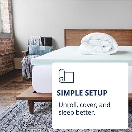 home, kitchen, bedding, mattress pads, toppers,  mattress toppers 2 image ViscoSoft 4 Inch Pillow Top Memory Foam Mattress in USA