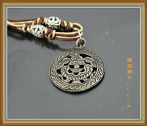 usongs Treasure House Aquarius Eight auspicious necklace pendant ward off evil bless legendary Tibetan ethnic characteristics - Eight Pendant Necklace