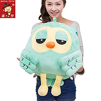 Aliexpress new lovely green owl plush toys wholesale cute 18-30cm pp cotton soft toy