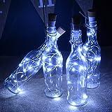 kingleder Wine Bottle USB Rechargeable LED Cork Light String, USB Powered LED Accent light for Bedroom Living Room Wedding Party Decoration(4 Pack, White)