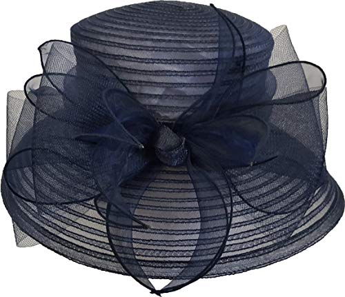 Women's Lightweight Packabe Crinalin Ribbon Hat (Navy) for sale  Delivered anywhere in USA