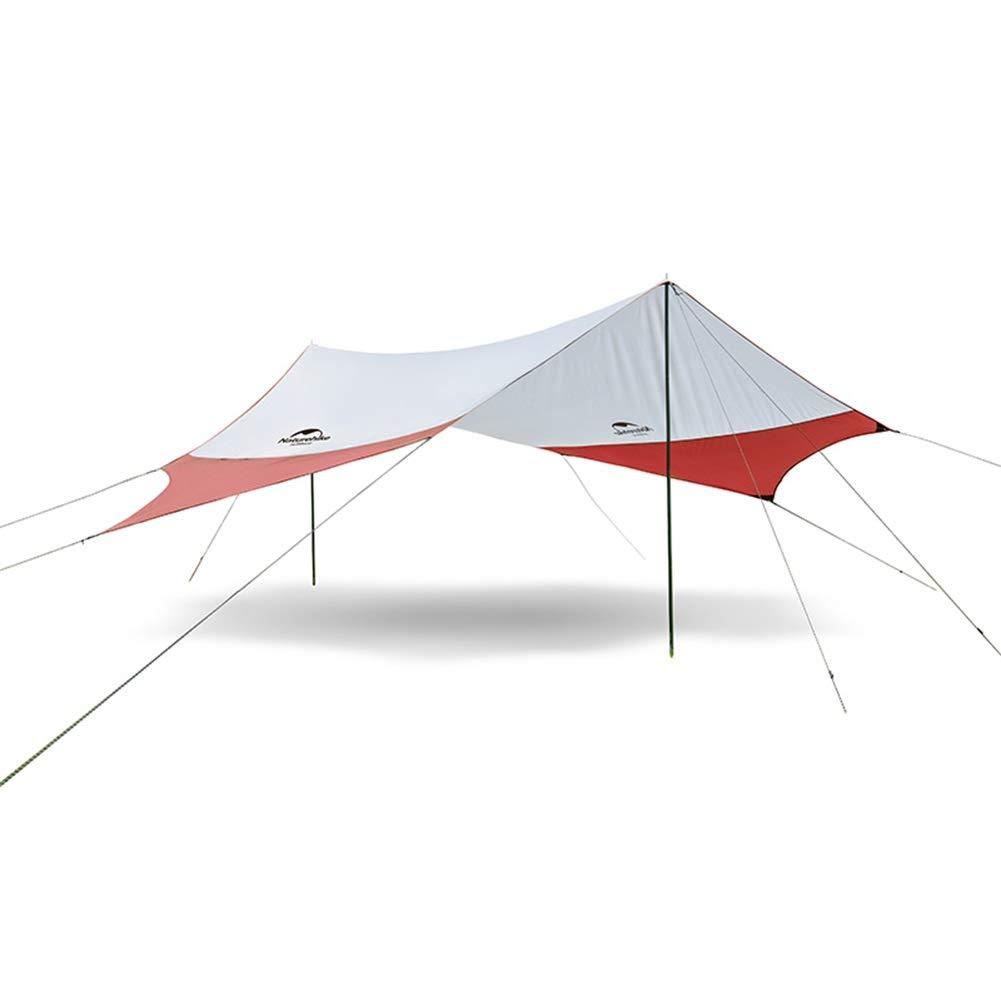 JIANFEI 天幕 キャンプ テント タープ屋外ピクニック 旅行 610人収容 、2色 、2つのサイズ (Color : Red, Size : 400x350cm) B07SXVJ3PT Red 400x350cm