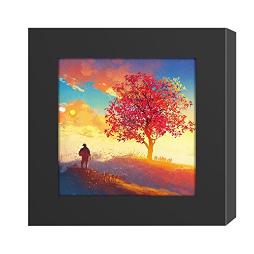 4x4 Picture Frame Black Wood Instagram Photo Image fit Window 3.6 x 3.6 Wall Decoration