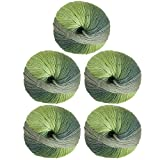 Knit Picks Chroma Worsted Superwash Wool Variegated Multi Color Yarn - 5-Pack with Pattern (Leaf)