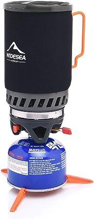 Widesea - Quemador de gas propano para camping con sistema de ...