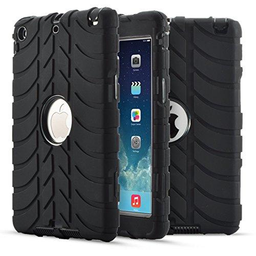 iPad Mini Case, iPad Mini 2/3 Case, Dteck 3 in 1 Heavy Duty Rugged [Anti Slip] Kids Shockproof Case [Drop Protection] Hybrid Cover for Apple iPad Mini 1/2/3, Black