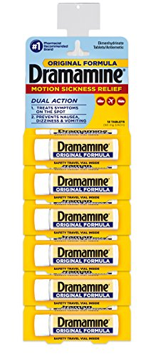 Dramamine Original 6 Package Display-4 Pre Loaded Clip Strips by Dramamine