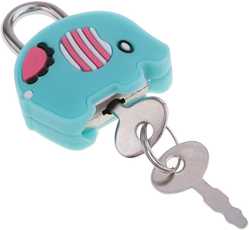 Katze Kawaii Cartoon Puppe Tier Mini Cartoon Puppe Tiere Vorh/ängeschloss Sicherheitsschloss Mit Schl/üssel F/ür Kinder
