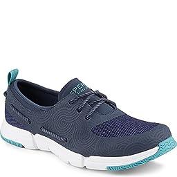 Sperry Top-Sider Women\'s Ripple Rush Heathered Black/Blue Boat Shoe 9 M (B)