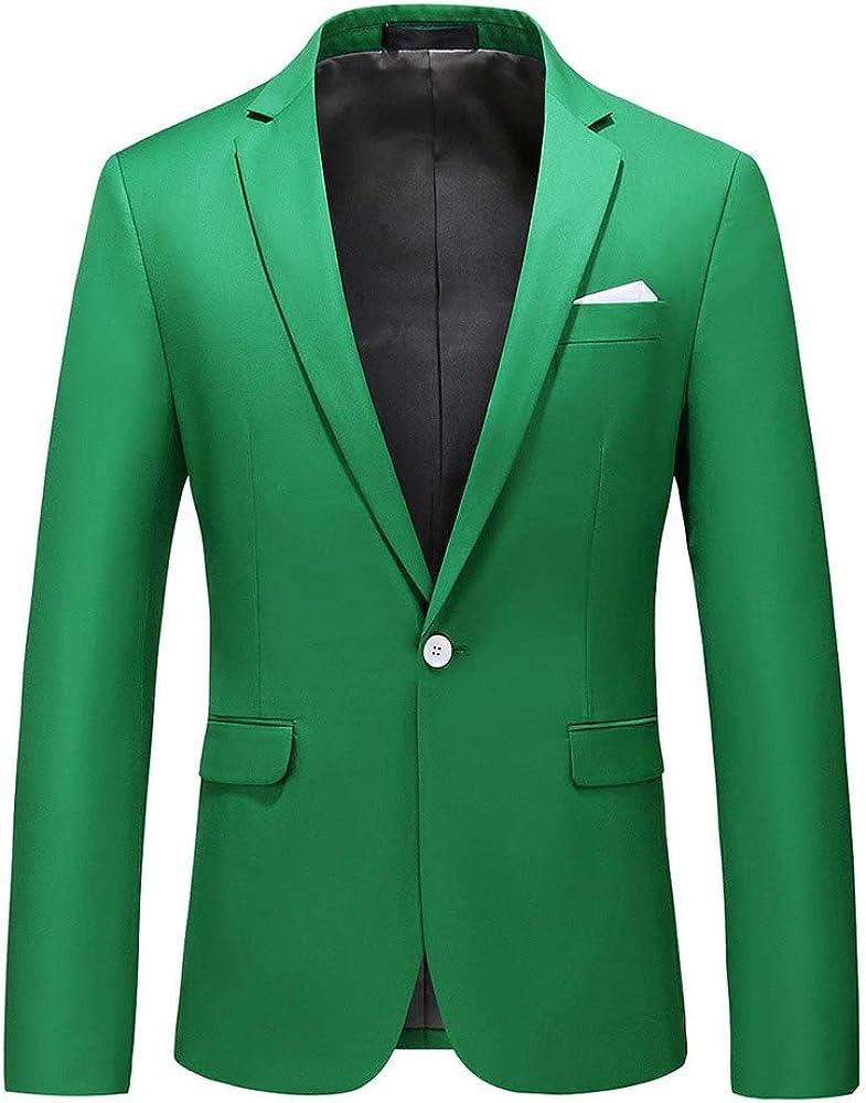 YOUTHUP Mens Blazer Slim Fit Notch Lapel Casual Suit Jackets Dress Tuxedo Blazers Coat