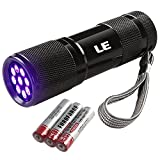 LE Ultra Violet LED Flashlight/Blacklight Torch, UV LED Flashlight, 9 LED 395nm, Pet Urine & Stain Detector, 3 AAA Batteries Included, Find Stains on Clothes, Carpet or Rugs Bild
