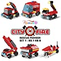 Nainiuao 222-Piece Fire Rescue Vehicles Building Blocks Set