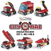Nainiuao 222-Piece Fire Rescue Vehicles Building Blocks Set