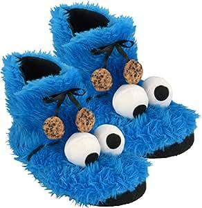 Sesam Calle 0122032–Zapatillas Booties monstruo, peluche, tamaño 41/42