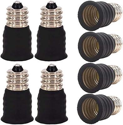 LED 10 unidades hal/ógenas y de bajo consumo Adaptador E12 a E14 para bombillas incandescentes ZDCDJ