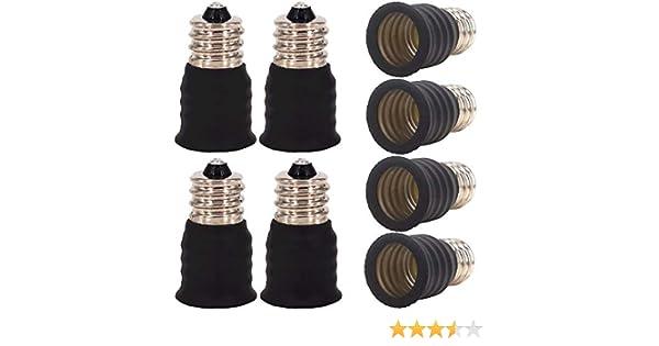 LED ZDCDJ hal/ógenas y de bajo consumo 10 unidades Adaptador E12 a E14 para bombillas incandescentes