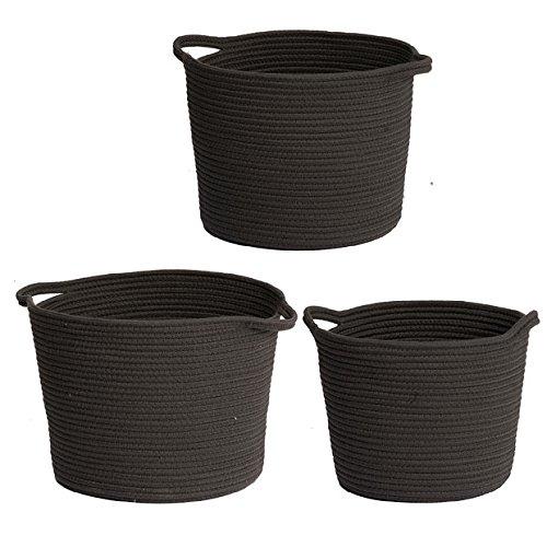 Lorne Storage Baskets Charcoal Set Of 3