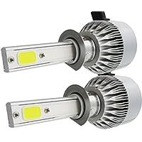 Ecosin Fashion 2x H1 110W 20000LM CREE Car COB LED Headlight Kit Beam Bulbs 6000K High Power