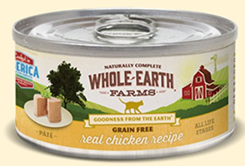 Merrick Whole Earth Farms Grain-Free Real Chicken Recipe Cat 2.75 Ounce, 24 can case Review