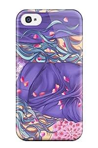 case for mobiephone's Shop Christmas Gifts vocaloid multi hatsune miku petals Anime Pop Culture Hard Plastic iPhone 4/4s cases 8924172K317546527