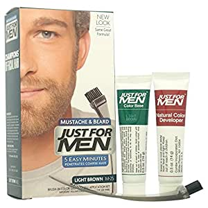 Amazon.com : JUST FOR MEN Brush-In Color Gel, Mustache & Beard M ...