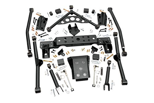 Rough Country - 90900U - X-Flex Long Arm Upgrade Kit for 4-inch Lifts for Jeep: 99-04 Grand Cherokee WJ - Long Arm Lift 4 Inch