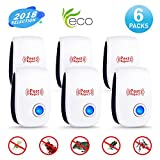 Ultrasonic Pest Repeller Mice Repellent Plug in Indoor-Electronic Ultrasonic Bug &Mosquito Repellent 6 Packs Pest Control for Roach, Spider, Ant, Rodent,Bedbugs, Fly, No Trap, Sprayer,Baits&Poison