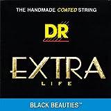 DR Strings BKB45 Black Beauties Medium Electric Bass 4 String Set (45-105)