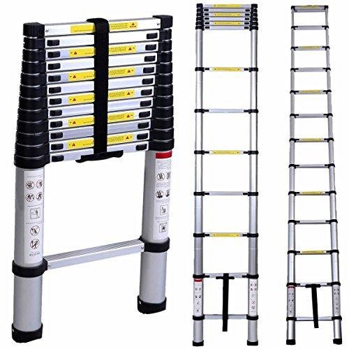 Combination Telescopic Ladder (Oshion 12.5ft EN131 Aluminum Telescoping Telescopic Extension Ladder 300 Pound Capacity)