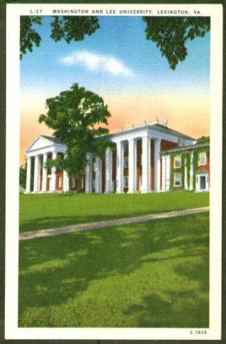 Washington & Lee University Lexington VA postcard 1940s from The Jumping Frog