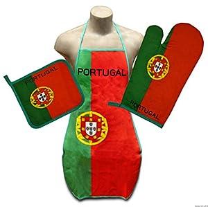 Portugal Flag Kitchen, BBQ Apron, Oven-mitt & Pot-holder