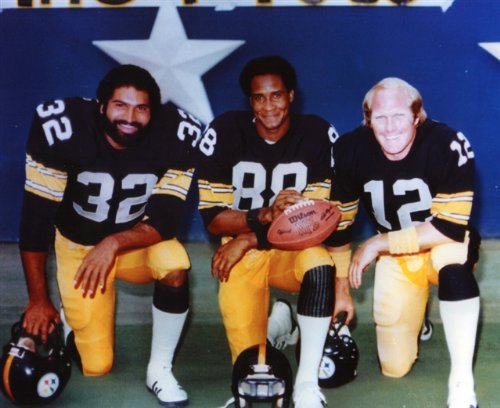 TERRY BRADSHAW-FRANCO HARRIS-LYNN SWANN PITTSBURGH STEELERS 8X10 SPORTS ACTION PHOTO
