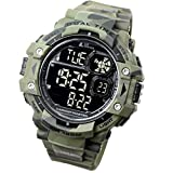 [LAD Weather] Military Watch/Camouflage/Stopwatch/Pacer Function watch/Outdoor/100m Water Resistant Men's Watch