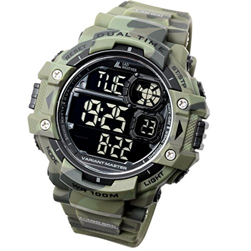 [LAD Weather] Military Watch/Camouflage/Stopwatch/Pacer Function watch/Outdoor/100m Water Resistant Men's Watch by LAD WEATHER