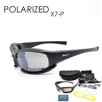 Táctica Gafas 4LS Mens Militar X7 polarizadas gafas de sol a prueba de balas para practicar airsoft gafas de humo lente Moto Ciclismo gafas