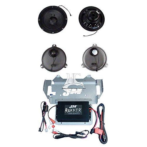 J&M Audio Rokker XXRK Extreme 2 Speaker and 330 Watt Amp Kit for 2014 and Newer Harley-Davidson Street Glide, Ultra Classic models - XXRK-330SP2-14SG by JM Audio