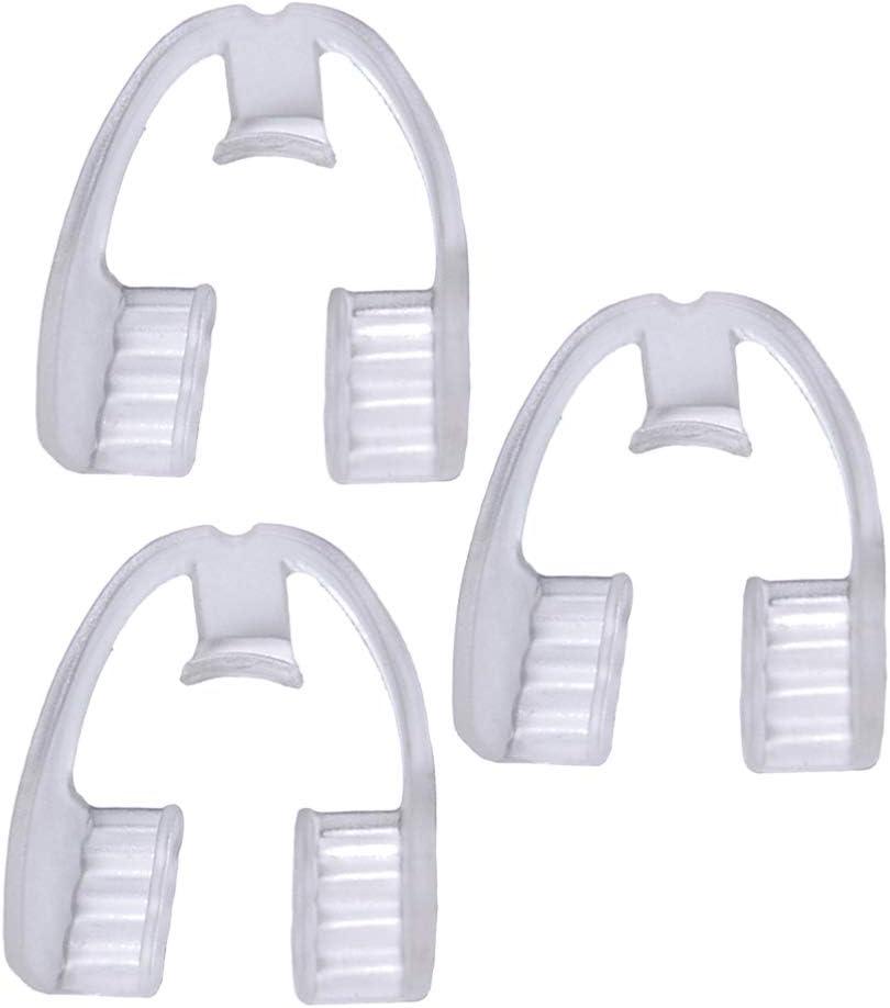 BESPORTBLE 3Pcs Dental Guard Molar Night Guard for Teeth Grinding Food Grade Mouth Guard Transparent Adults Supplies