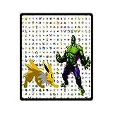 Cozy Pokemon Eevee VS Hulk Blanket 50 by 60-Inch Bedding Blanket Baby Blanket Travel Blanket
