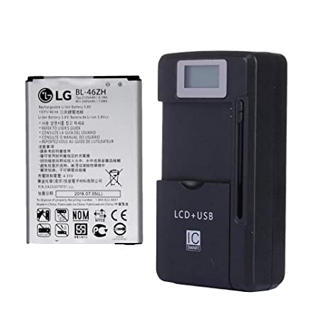 LG BL-46ZH EAC63079701 Battery 2045mAh for LG K7 MS330 LS675 Tribute 5 K330  LS675 Escape 3 with External Battery Charger