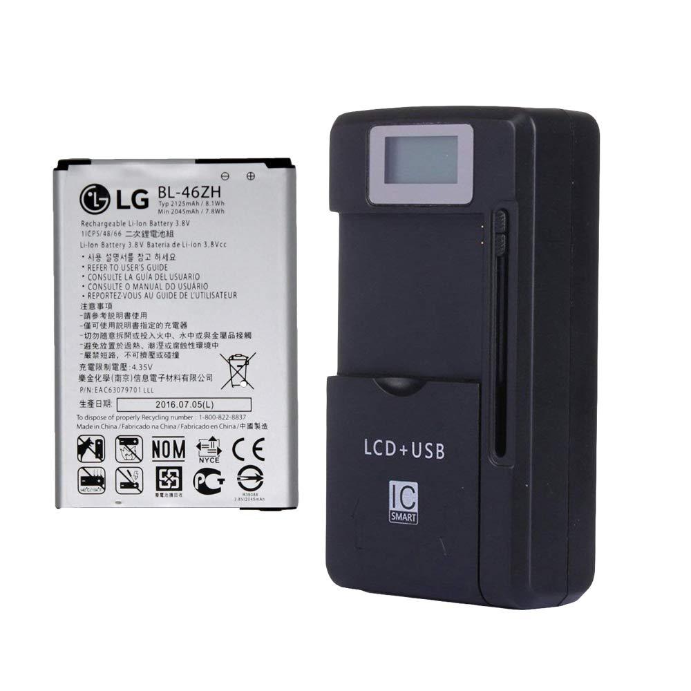 Bateria Celular LG BL 46ZH EAC63079701 2045mAh para LG K7 MS330 LS675 Tribute 5 K330 LS675 Escape 3 con External Charger
