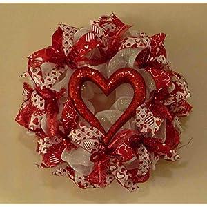 Valentine Heart Wreath, Valentine's Day Wreath (3674) 119