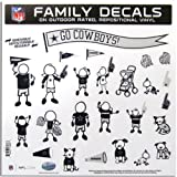 NFL Dallas Cowboys Large Family Decal Set