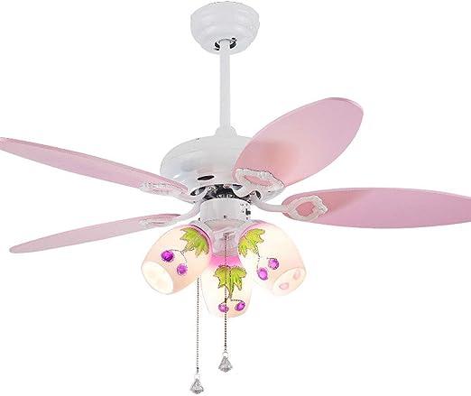 YS&VV 42 Pulgadas LED Ventilador de Techo con Lámpara de Ventilador de Luz Iluminación de Araña de mini caricatura, para habitación infantil, con Control Remoto 5 cuchillas: Amazon.es: Iluminación