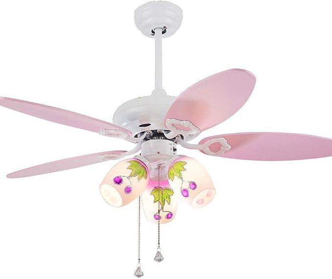 YS&VV 42 Pulgadas LED Ventilador de Techo con Lámpara de ...