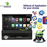 Lexxson Car Navigation 7inch 1024x600 Super High Definition Digital Screen Built-in GPS 1.2G Quad Core Android System Build-in WiFi 7 Color LED Backlight with Remote Control CT0013