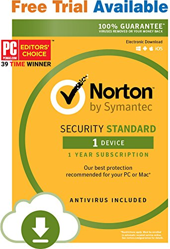 Software : Norton Security Standard - 1 Device- Monthly Subscription