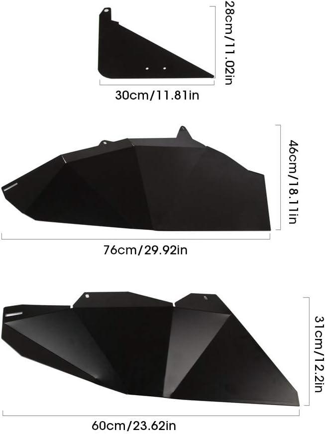 Paneles de inserci/ón de media puerta de aleaci/ón de aluminio inferior aptos para RZR XP1000 Turbo de 4 puertas